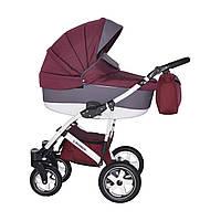 Коляска детская 2 в 1 универсальная Donatan Lavanda бордово серая (ОРИГИНАЛ, бордовый серый)