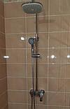 Душевая система со смесителем с поворотным изливом, с верхним и ручным душем HB Milano, фото 7