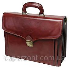 Деловой портфель из натуральной кожи Rovicky AWR-6-1 коричневый