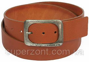 Мужской кожаный ремень под джинсы, Cramer & Co, Германия, 100139 рыжий, 4,5х122 см
