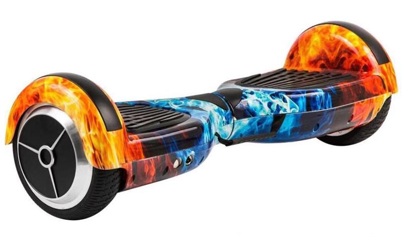 Гироборд Smart Balance 6,5 дюймов Гироскутер Цвет - Огонь и лед полная комплектация