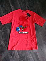 Платье короткое трикотажное Philipp Plein красного цвета