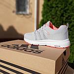 Женские кроссовки Adidas NEO (серо-розовые) 20129, фото 6