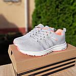 Женские кроссовки Adidas NEO (серо-розовые) 20129, фото 8