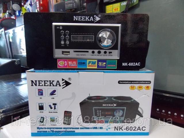 Радио Neeka NK 602 USB SD аккумулятор корпус дерево пульт