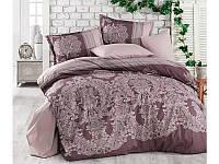 Двуспальное постельное белье коричневое 200х220 Турция (TM Aran Clasy) OSLO V2