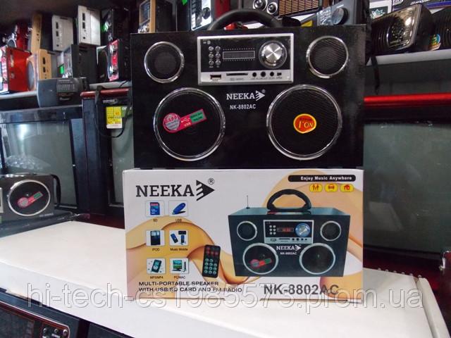 Радио Neeka NK 8802 USB SD аккумулятор корпус дерево