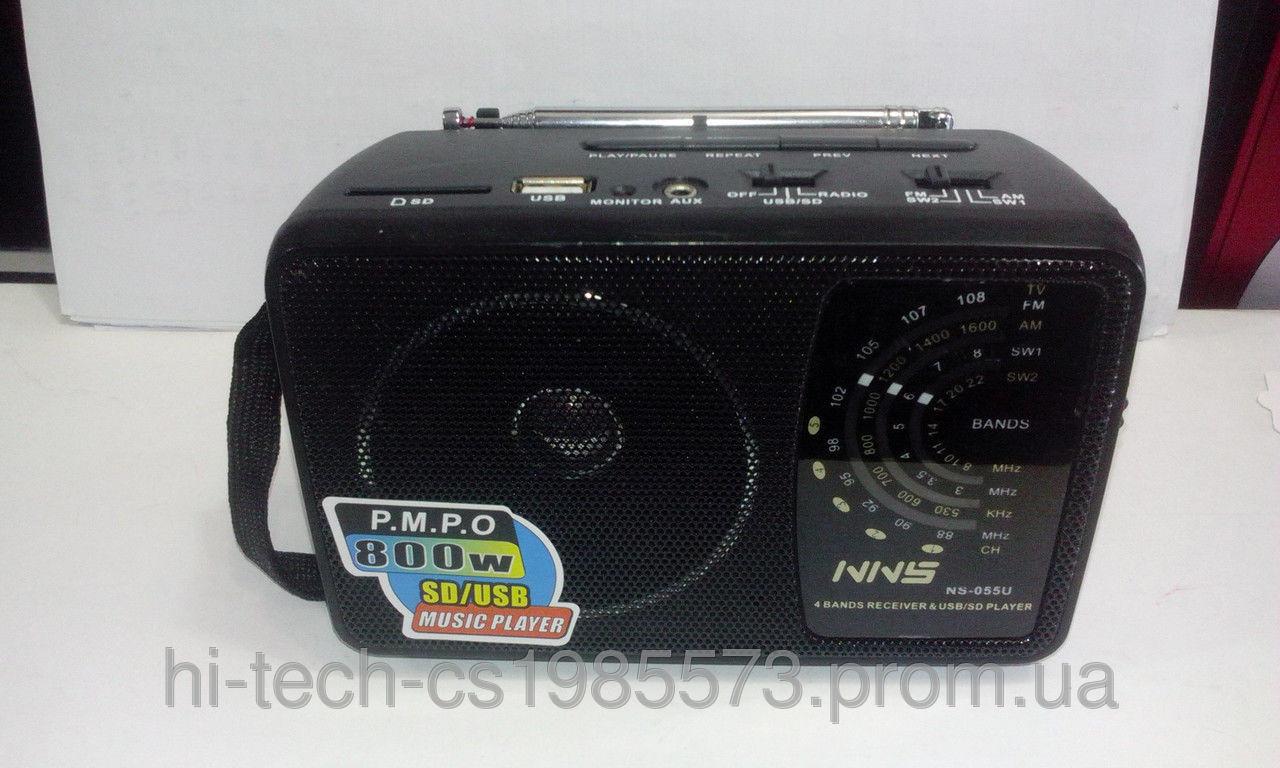Радио NNS NS 055 USB SD ручная настройка радиоволн