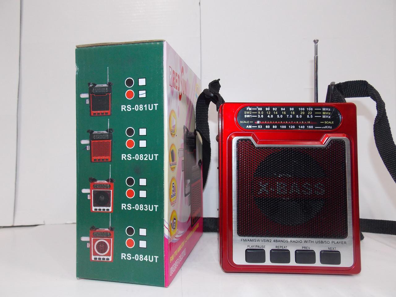 Радиоприемник RS-081 USB SD ручная настройка радио аккумулятор