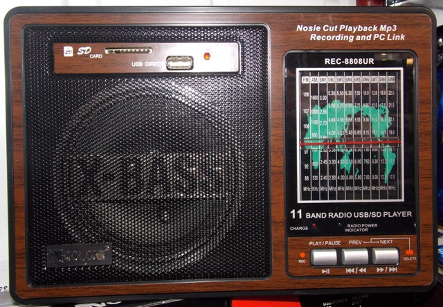 Радиоприемник с USB (деревянный корпус) RX-8808
