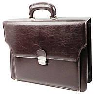 Портфель мужской для документов из эко кожи JPB, TE-69 brown