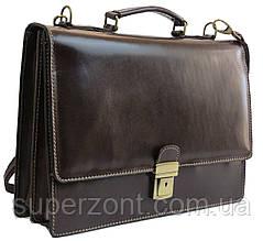 Мужской кожаный портфель TOMSKOR, Польша 81563 коричневый