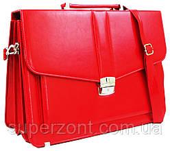Женский деловой портфель из эко кожи AMO SST11 красный