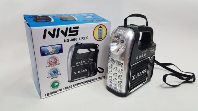 Радиоприемник с фонарём NSS NS-096U-REC