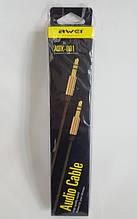 Аудио кабель AWEI AUX-001jack 3.5 мм длинна 1м