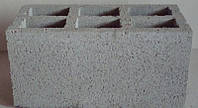 Блок бетонный 200х200х400 с закрытым дном