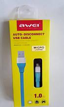 Оригинал Awei CL-500 портативный смарт-кабеля Micro USB авто - отключите кабель для Samsung Micro USB смартфон