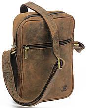 Винтажная сумка из натуральной кожи Always Wild LB05H коричневый