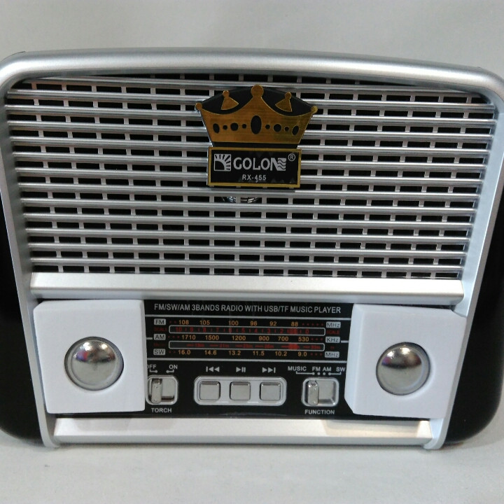 Ретро радиоприёмник Golon RX-455 USB с аккумулятором