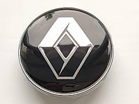 Колпачки заглушки в литые диски Renault 60/56/10 мм. Черные