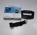 Ваги-кантер цифрові VKTECH S019 для багажу (±10g/50kg) з підсвічуванням, фото 3