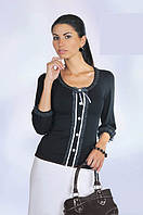 Блузка чёрная, с рюшками