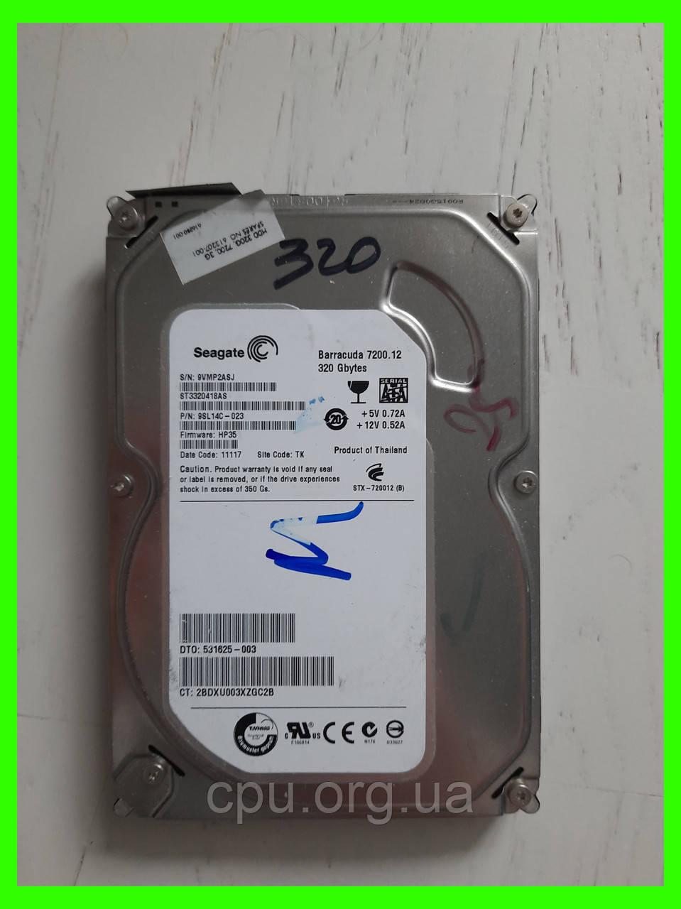 Жесткий диск HDD 3.5 320GB Seagate Barracuda 7200.12 ST3320418AS 8M 7200 об/мин