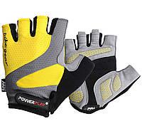 Велорукавички PowerPlay 5004 D Жовті S, фото 1