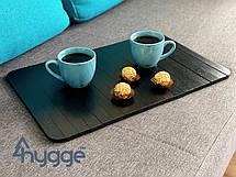 Дерев'яний столик-накладка на диван для сніданку Hygge™ чорний, фото 2