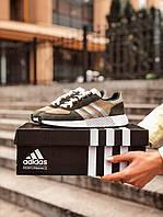 Кроссовки мужские Adidas Marathon Tech коричневые, замша, код Z-3018