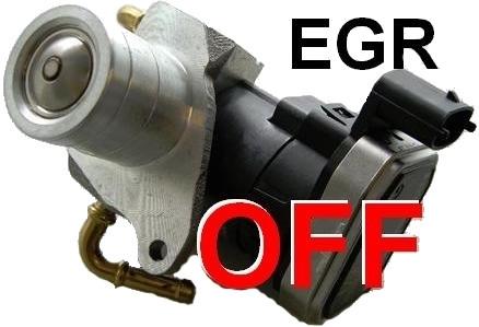 Отключение клапана EGR