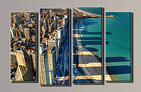 Картина модульная на холсте Чикаго HAF-052