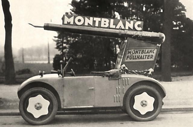 Монтблан первые рекламные кампании