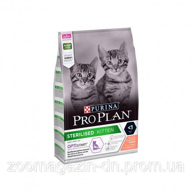 PRO PLAN Sterilised для стерилизованных котят возрастом до 1 года, с лососем, 0,4 кг