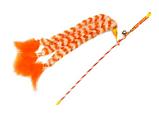 Игрушка для кошек Палочка с тремя хвостами GimCat 46 см, фото 2