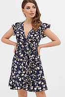 GLEM синее платье с цветочным принтом София б/р, фото 1