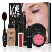 Набор декоративной косметики MAC Look in a box 8in1, подарочный набор косметики