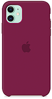 Чехол Silicone Case Soft-Touch iPhone 11 Rose Red