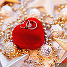 Футляр для кольца Сердце Ж красное, фото 8