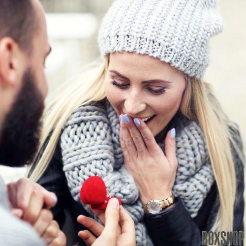 Футляр для кольца Сердце Ж красное