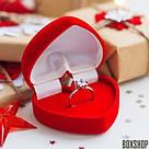 Футляр для кольца Сердце Ж красное, фото 10