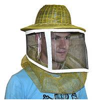 Маска пчеловода бамбуковая с металлической сеткой