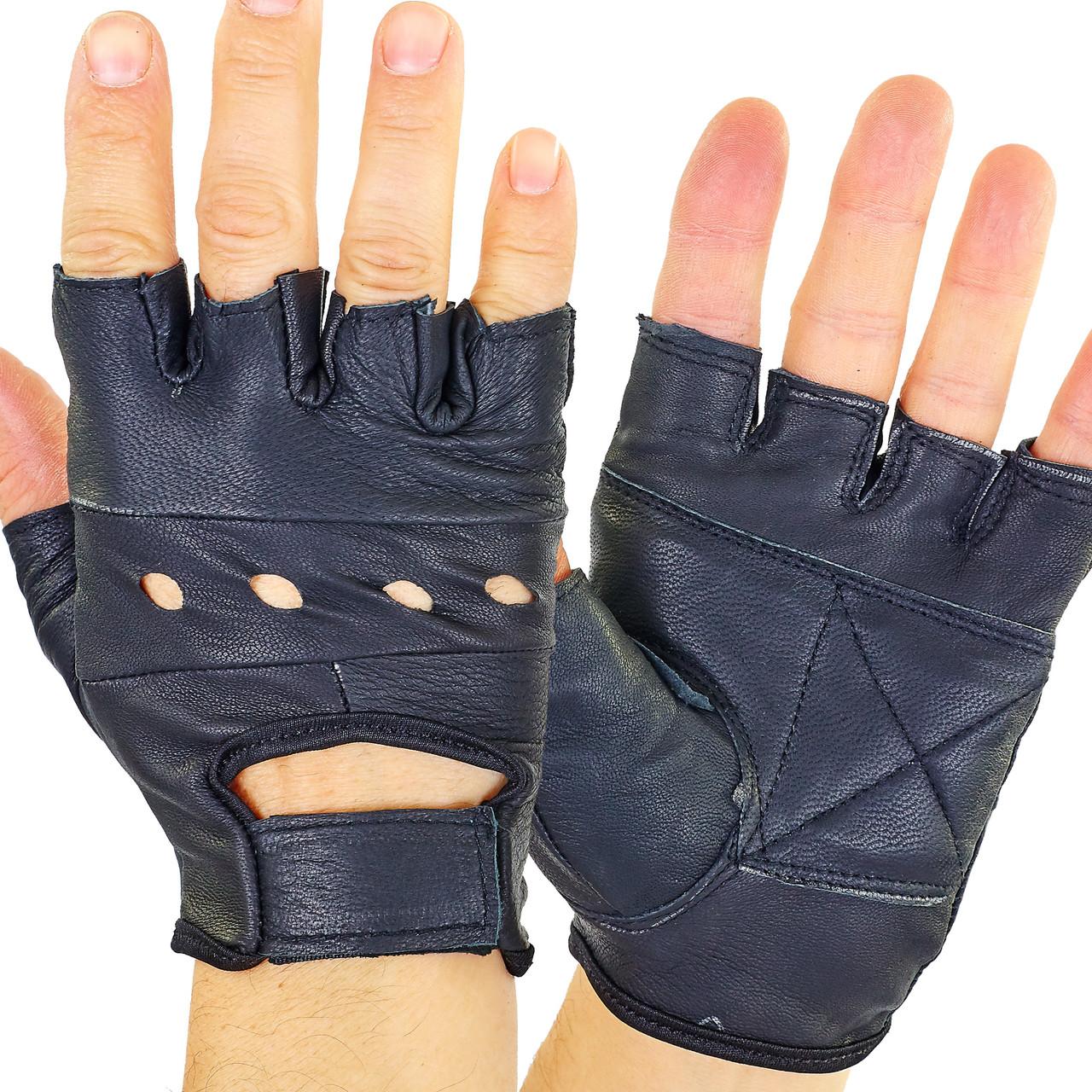 Перчатки для кроссфита и воркаута кожаные SPORT WorkOut BC-0004