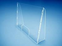 Наклонный защитный барьер экран перегородка для кассы магазина 1000х750х240мм (Толщина акрила : 3 мм; ), фото 1
