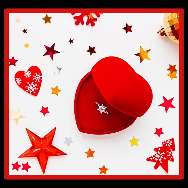 Картинка Красный футляр бархатный для женского кольца #626389594