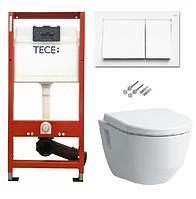 Інсталяція TECE з підвісним унітазом без обідка квадр. V&B Omnia Architectura DirectFlush + кришка Softclose, фото 1