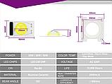 LEd Smart IC 20w з лінзою + накладка Світлодіод 20w 220V 6000K світлодіодна матриця 20w з драйвером на борту, фото 3