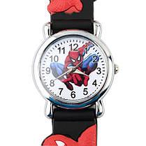 Часы детские кварцевые на силиконовом ремешке 72217 черные, фото 2