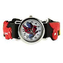 Часы детские кварцевые на силиконовом ремешке 72217 черные, фото 3