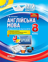 Мой конспект Основа Английский язык 8 класс (по учебнику Карпюк)